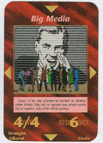 Illuminati Big Media New World Order Game Trading Card