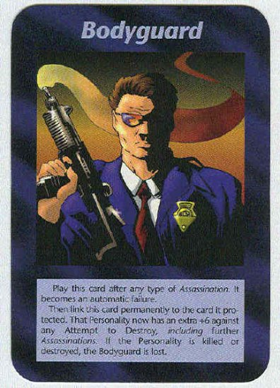Illuminati Bodyguard New World Order Unlimited Game Trading Card