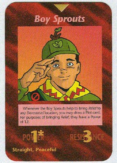Illuminati Boy Sprouts New World Order Game Trading Card