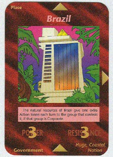 Illuminati Brazil New World Order Game Trading Card