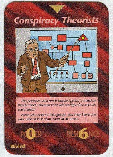 Illuminati Conspiracy Theorists New World Order Game Card