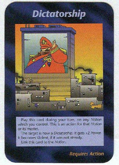 Illuminati Dictatorship New World Order Game Trading Card