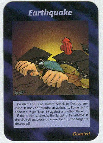 Illuminati Earthquake New World Order Game Trading Card