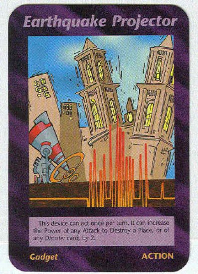 Illuminati Earthquake Projector New World Order Game Card