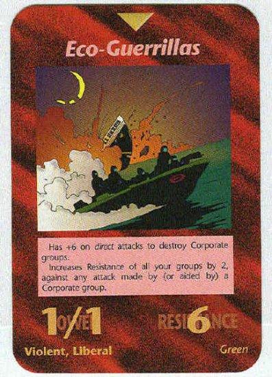 Illuminati Eco-Guerrillas New World Order Game Trading Card