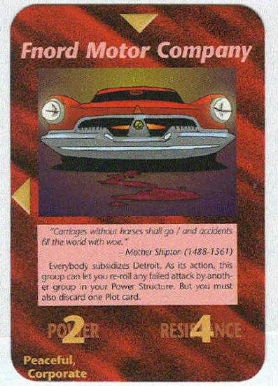 Illuminati Fnord Motor Company NWO Game Trading Card