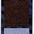 Illuminati Fnord New World Order Game Trading Card