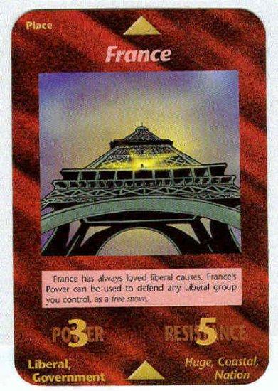 Illuminati France New World Order Game Trading Card