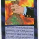 Illuminati Fundie Money New World Order Game Card