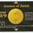 Illuminati Gnomes Of Zurich New World Order Game Card