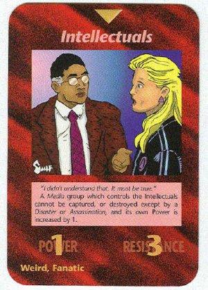 Illuminati Intellectuals New World Order Game Trading Card