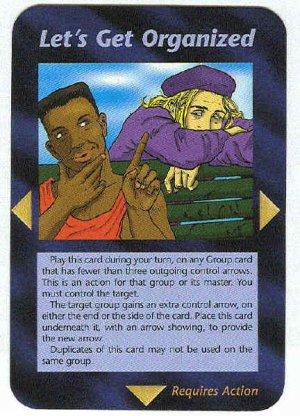 Illuminati Let's Get Organized New World Order Game Card