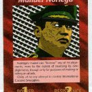 Illuminati Manuel Noriega New World Order Game Card
