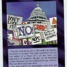 Illuminati March On Washington New World Order Game Card