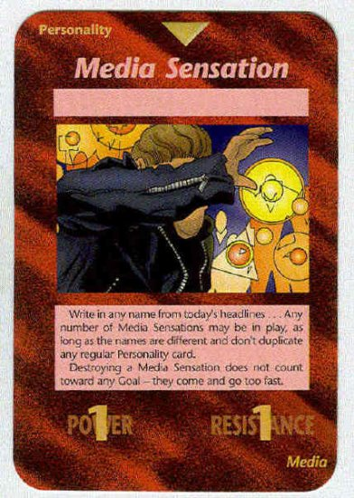 Illuminati Media Sensation New World Order Game Card
