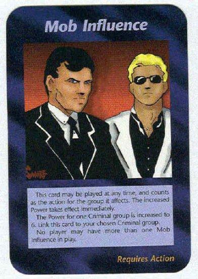Illuminati Mob Influence New World Order Game Card