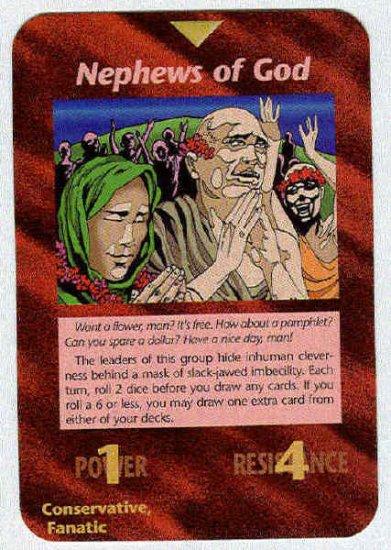 Illuminati Nephews Of God New World Order Game Card