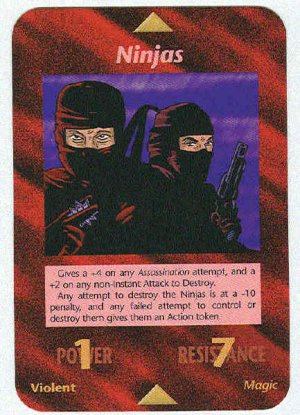 Illuminati Ninjas New World Order Game Trading Card