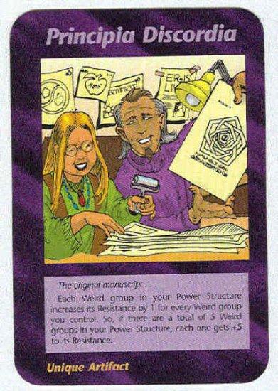 Illuminati Principia Discordia New World Order Game Card