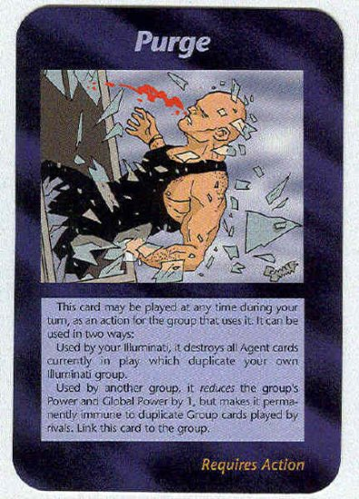 Illuminati Purge New World Order Game Trading Card