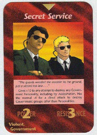 Illuminati Secret Service New World Order Game Trading Card