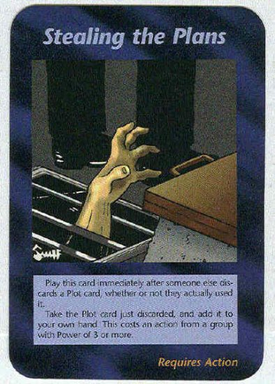 Illuminati Stealing The Plans New World Order Game Card