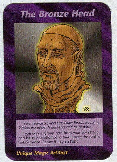 Illuminati The Bronze Head New World Order Game Card