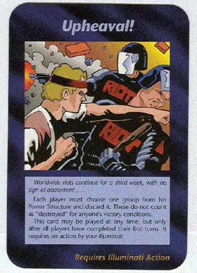 Illuminati Upheaval New World Order Game Trading Card