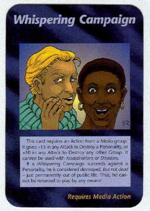 Illuminati Whispering Campaign New World Order Game Card