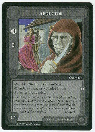 Middle Earth Abductor Wizards Limited Black Border Game Card