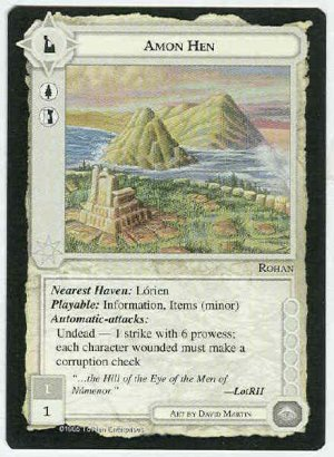 Middle Earth Amon Hen Wizards Limited Game Card
