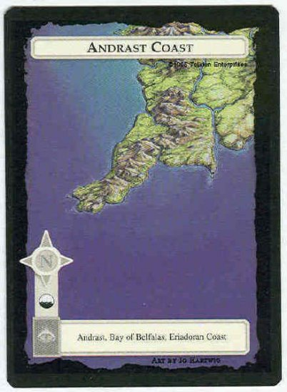 Middle Earth Andrast Coast Wizards Limited Game Card