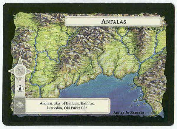 Middle Earth Anfalas Wizards Limited BB Game Card