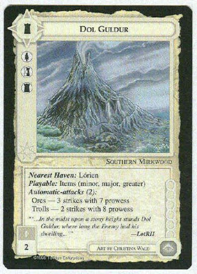 Middle Earth Dol Guldur Wizards Limited Rare Game Card