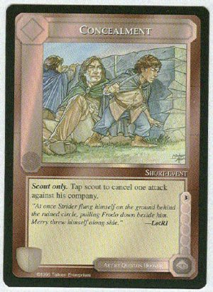 Middle Earth Concealment Wizards Limited Game Card