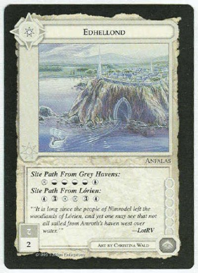 Middle Earth Edhellond Wizards Limited Black Border Game Card