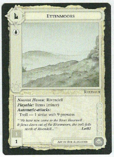 Middle Earth Ettenmoors Wizards Limited Game Card