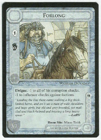 Middle Earth Forlong Wizards Limited BB Game Card