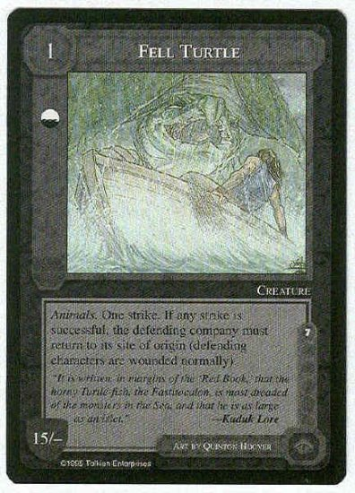 Middle Earth Fell Turtle Wizards Limited Rare Game Card