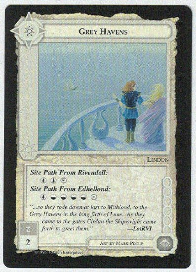 Middle Earth Grey Havens Wizards Limited Black Border Game Card