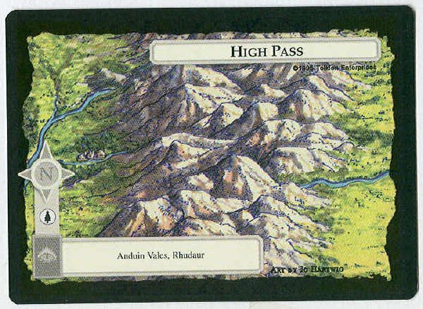 Middle Earth High Pass Wizards Limited Game Card