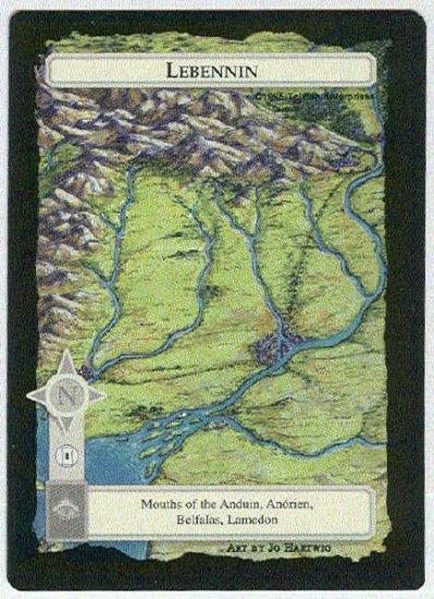 Middle Earth Lebennin Wizards Limited Black Border Game Card