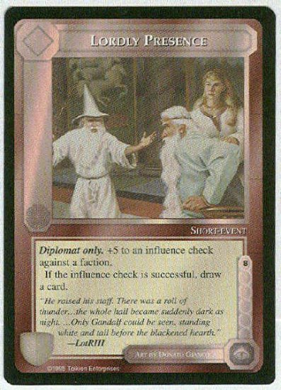 Middle Earth Lordly Presence Wizards Limited Game Card