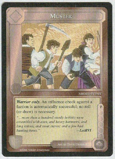 Middle Earth Muster Wizards Limited Black Border Game Card