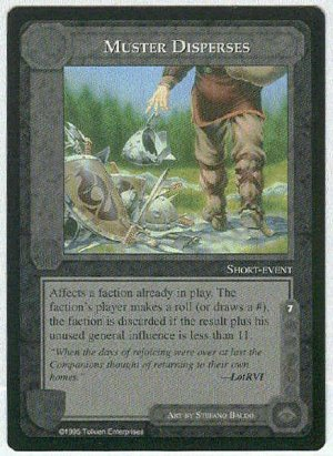 Middle Earth Muster Disperses Wizards Limited Game Card