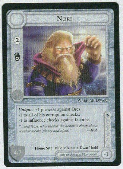 Middle Earth Nori Wizards Limited Black Border Game Card