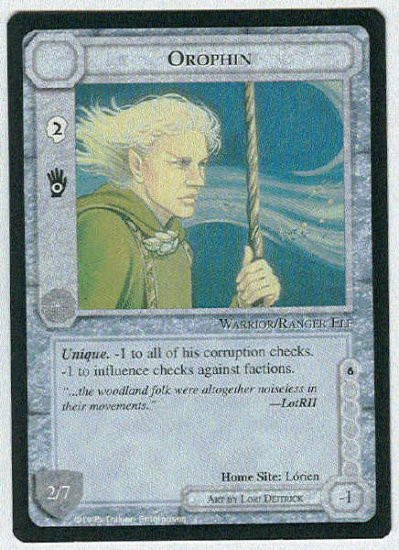Middle Earth Orophin Wizards Limited BB Game Card