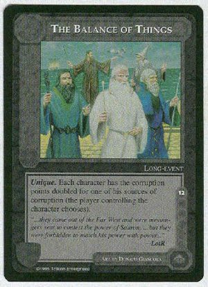 Middle Earth The Balance Of Things Wizards Rare Game Card
