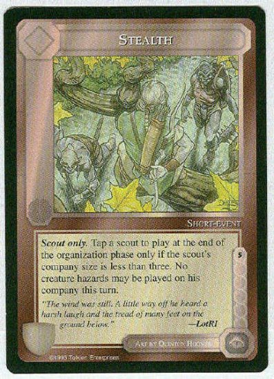 Middle Earth Stealth Wizards Limited BB Game Card