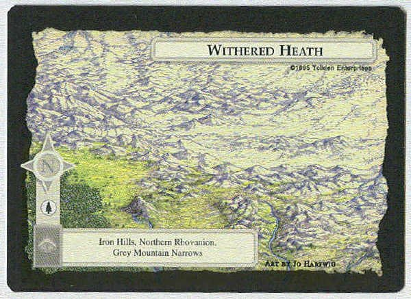 Middle Earth Withered Heath Wizards Limited BB Game Card